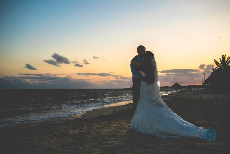 weddingsunsetCancun